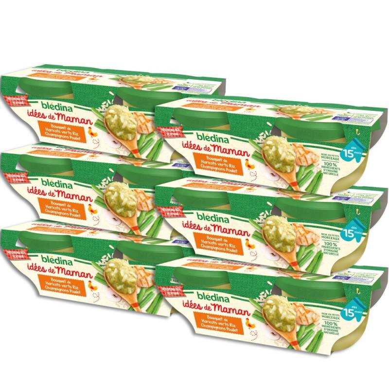 Pack Idées de Maman Haricots verts Riz Champignons Poulet