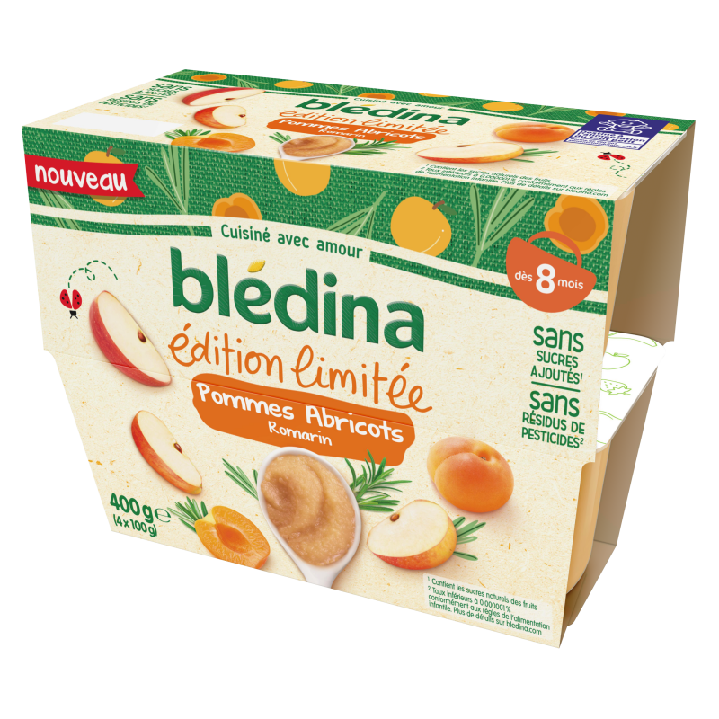 Coupelles Edition Limitée Pommes Ananas Thym - 4x100g