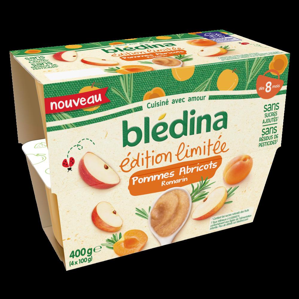 Lot x6 - Coupelles Fruits - Edition limitée Pommes Abricots Romarin - dès 8 mois