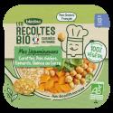Les Récoltes Bio - Carottes Pois chiches Epinards, Quinoa au curry - 230g