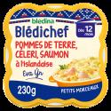 Blédichef - Ecrasé de Pommes de terre, Céleri, Saumon à la Scandinave - 230g