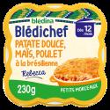 Blédichef - Purée de Patate douce & Maïs, Poulet à la Brésilienne - 230g