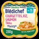 Blédichef - Courgettes, Riz, Saumon façon Tikka - 250g