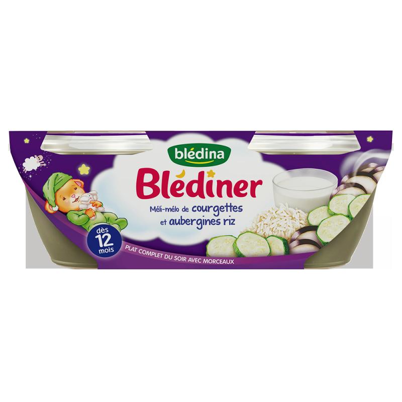 Blédîner - Méli-Mélo de Courgettes et Aurbergines Riz - 2x200g