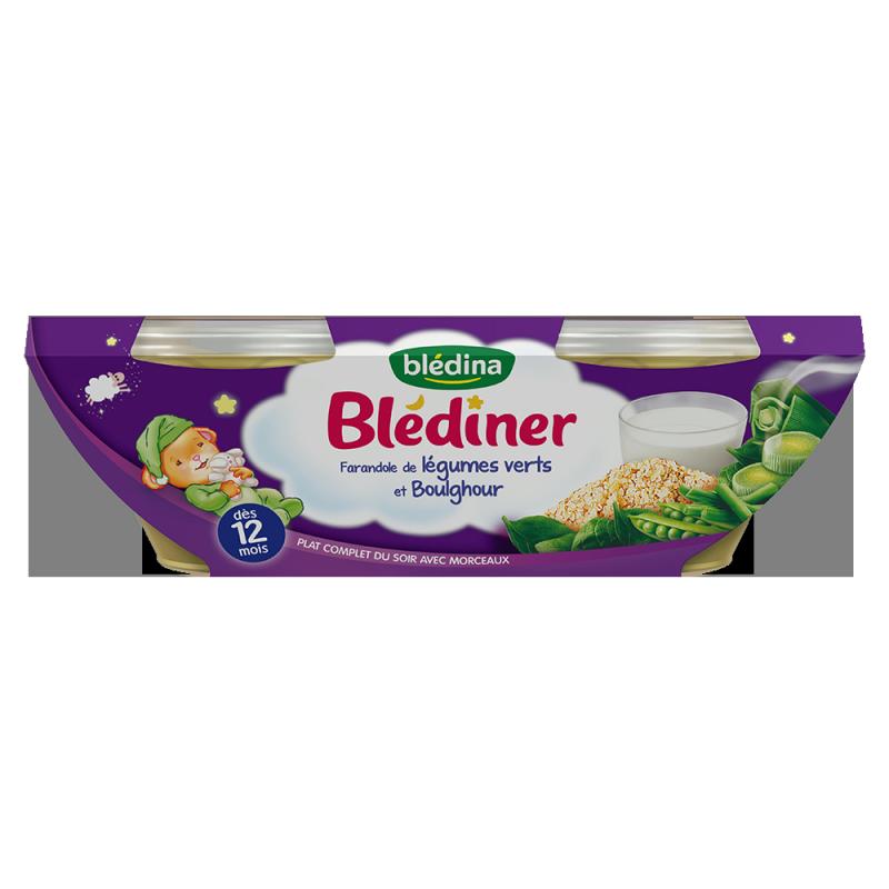 Blédîner - Farandole de Légumes Verts et Boulghour - 2x200g