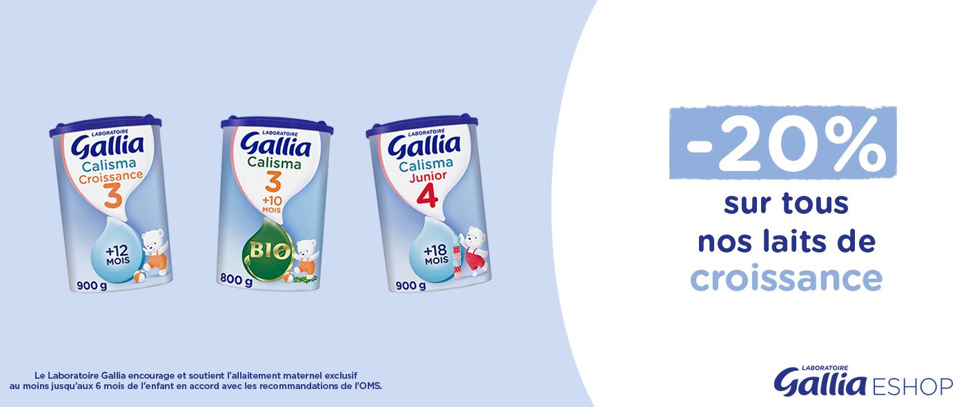 Profitez de -20% sur tous les laits de croissance !